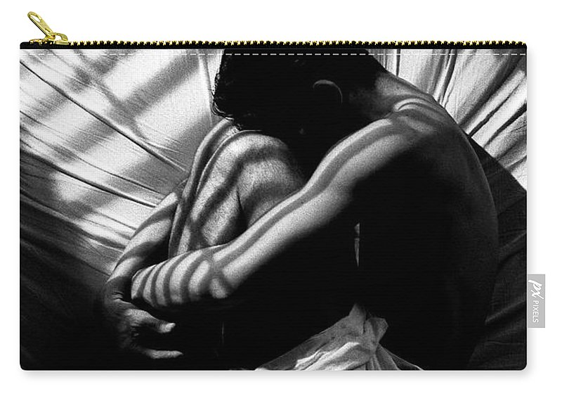 B/w Carry-all Pouch featuring the photograph Lonely by Sergio Bondioni
