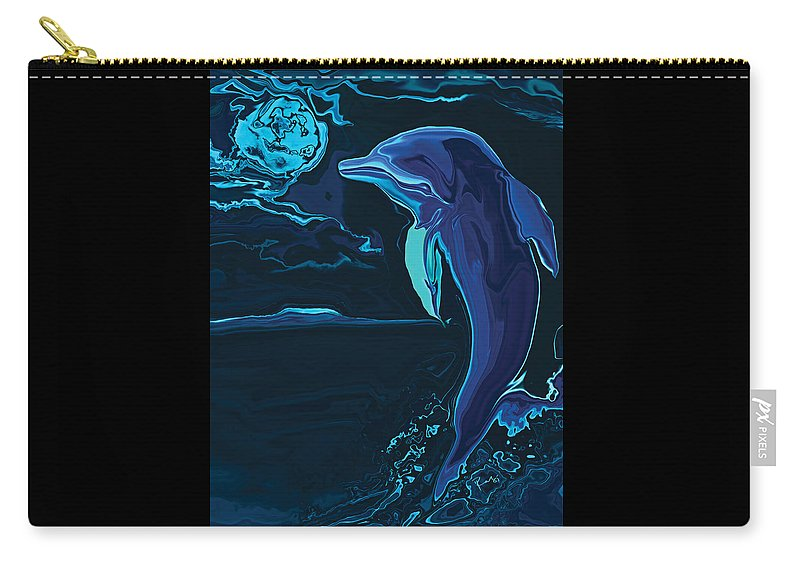 Animal Carry-all Pouch featuring the digital art Lonely Tonight by Rabi Khan