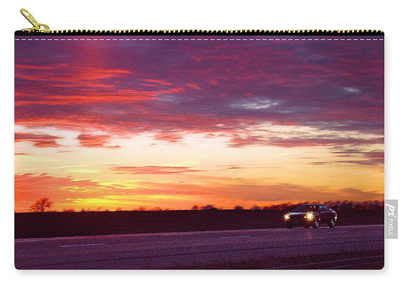 Landscape Carry-all Pouch featuring the photograph Lonesome Highway by Steve Karol