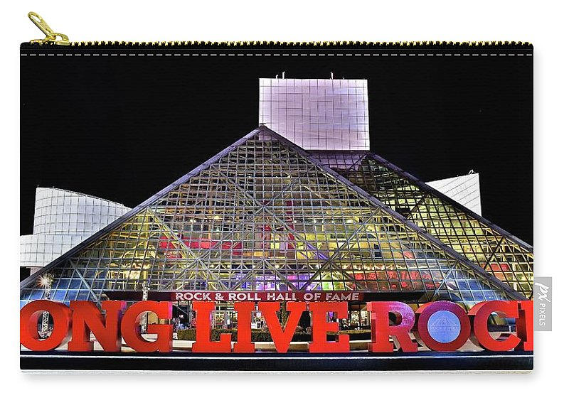 Rock Carry-all Pouch featuring the photograph Long Live Rock by Frozen in Time Fine Art Photography