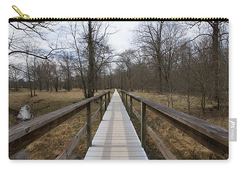 Walkway Carry-all Pouch featuring the photograph Long Walk by Heidi Poulin