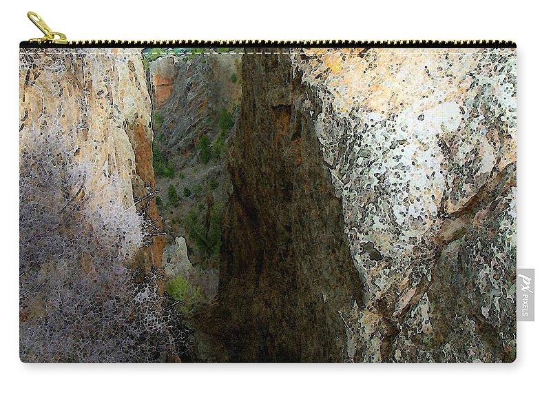 Black Canyon Carry-all Pouch featuring the painting Long Way Down by RC DeWinter