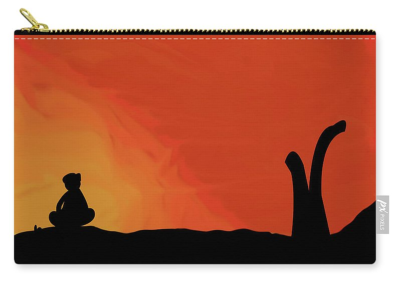 A Man Sitting Lonely Carry-all Pouch featuring the digital art Lonliness by Safwan