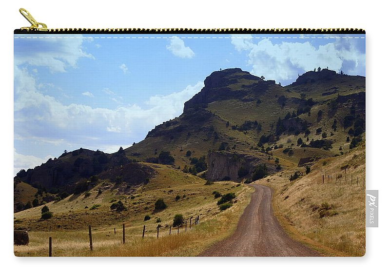 Tom Miner Rd. Carry-all Pouch featuring the photograph Lonly Road by Marty Koch