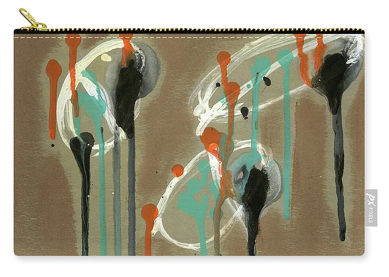 Look Carry-all Pouch featuring the painting Look by David Jacobi