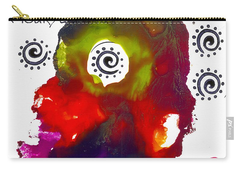 Abstract Carry-all Pouch featuring the mixed media Look For Good In Others by Angela L Walker