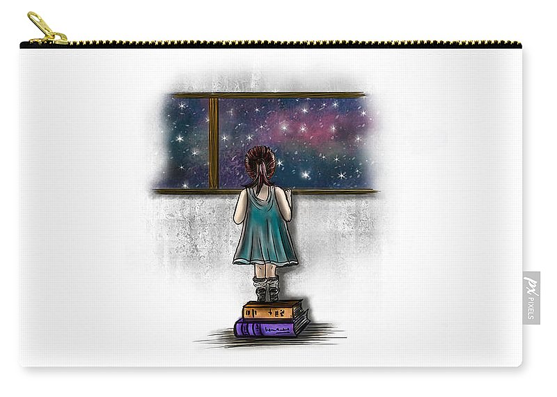Girl Carry-all Pouch featuring the digital art Looking For A Star 1 by Sttelland