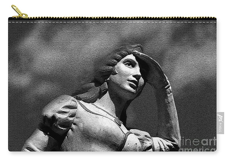 Love Carry-all Pouch featuring the painting Looking For Love by David Lee Thompson