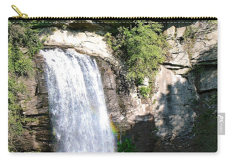 Landscape Carry-all Pouch featuring the photograph Looking Glass Falls Nc by Steve Karol