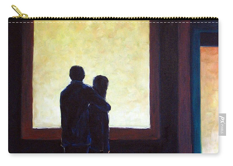Pranke Carry-all Pouch featuring the painting Looking In Looking Out by Richard T Pranke