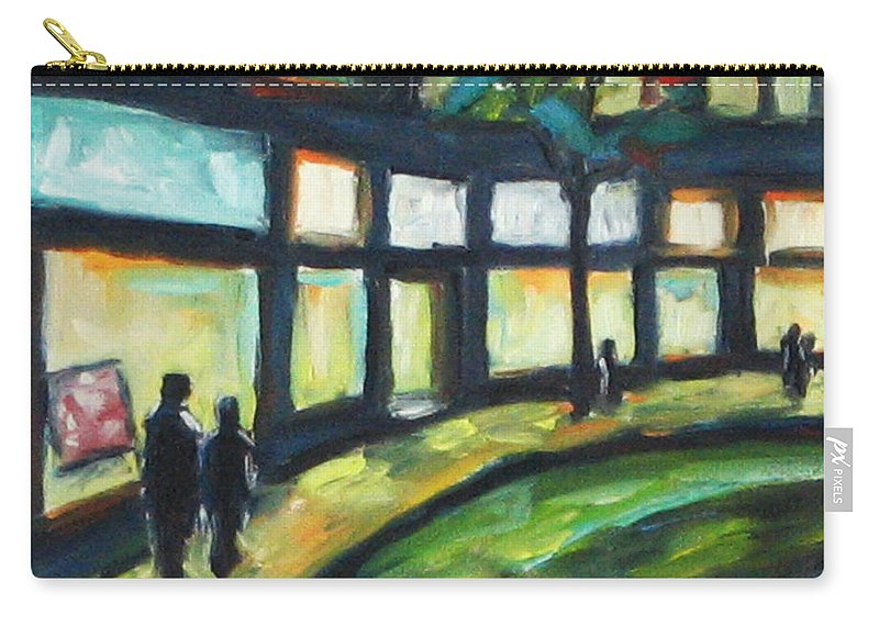 Town Carry-all Pouch featuring the painting Looking On by Richard T Pranke