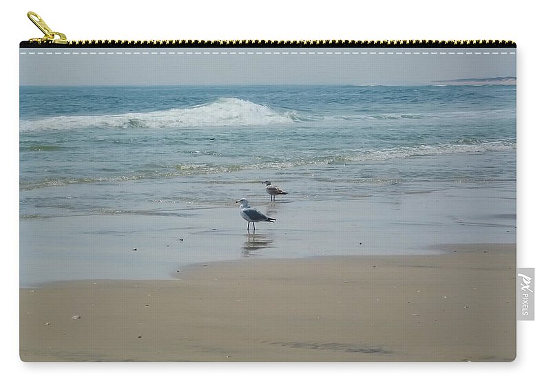 Beach Carry-all Pouch featuring the photograph Looking Out Into The Sea by Bill Cannon
