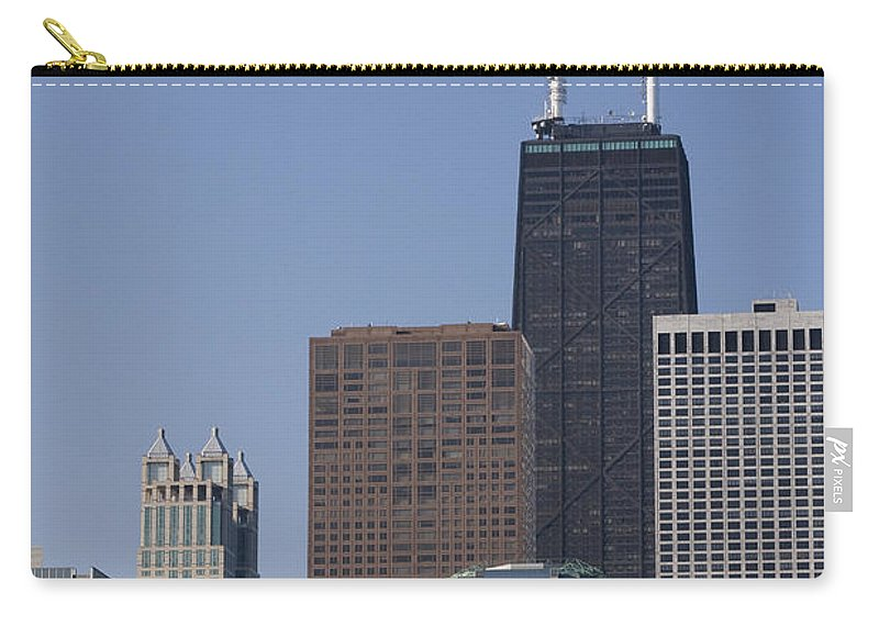 Chicago Windy City Building Skyscraper Tall Big High Metro Urban John Hancock Tower Center Carry-all Pouch featuring the photograph Looking Over by Andrei Shliakhau