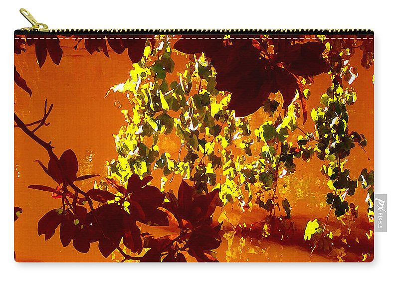 Landscapes Carry-all Pouch featuring the painting Looking Through Leaves Into Pond by Amy Vangsgard
