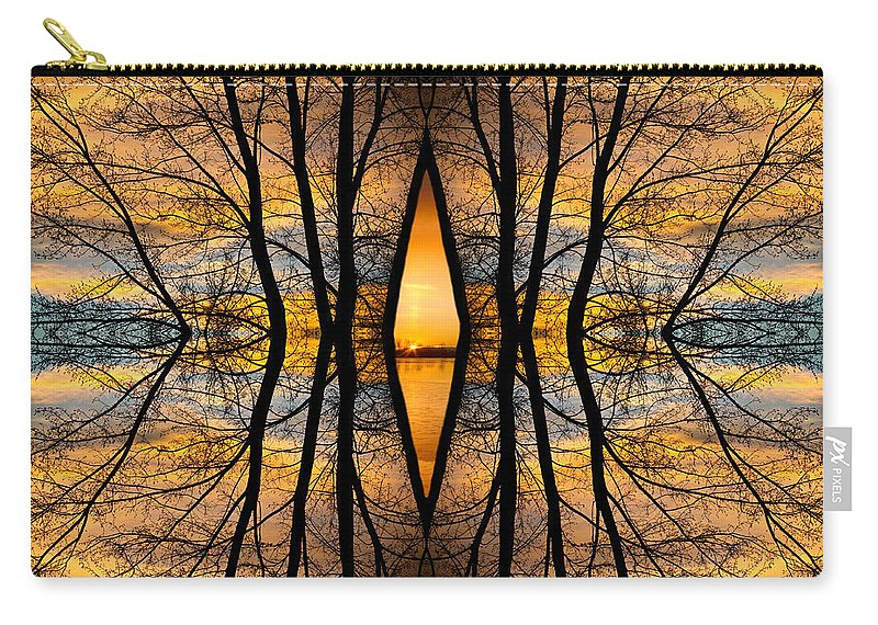 Sunsets Carry-all Pouch featuring the photograph Looking Through The Trees Abstract Fine Art by James BO Insogna