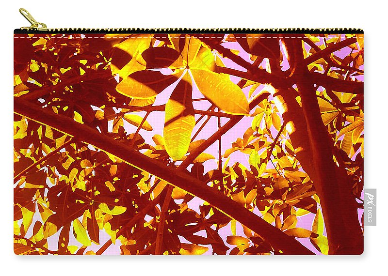 Garden Carry-all Pouch featuring the painting Looking Through Tree Leaves 2 by Amy Vangsgard