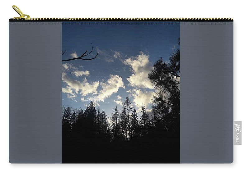 Clouds Carry-all Pouch featuring the photograph Looking To The Sky by Shawna Walker