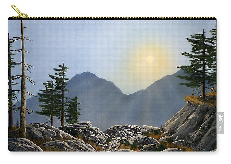 Landscape Carry-all Pouch featuring the painting Lookout Rock by Frank Wilson