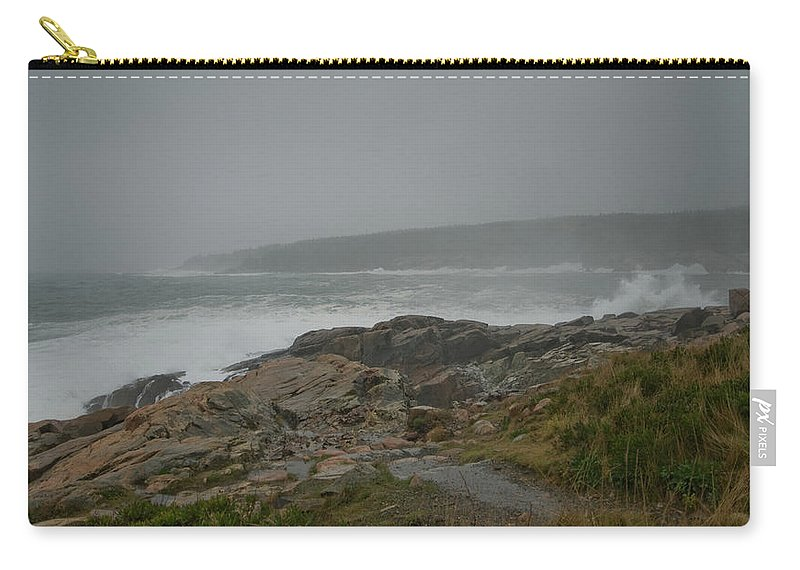 nor' Easter Carry-all Pouch featuring the photograph Looks Like Rain by Paul Mangold