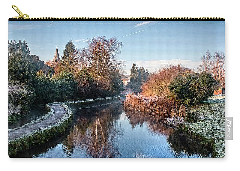 Loose Valley Path Carry-all Pouch featuring the photograph Loose Mill Pond by Dave Godden