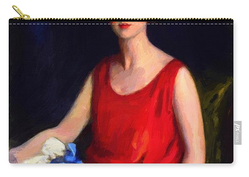 Loretta Carry-all Pouch featuring the painting Loretta Hines Howard by Henri Robert