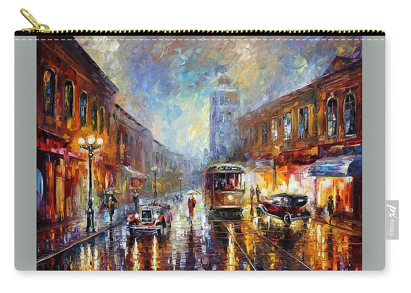 Afremov Carry-all Pouch featuring the painting Los Angeles 1920 by Leonid Afremov