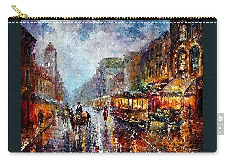 Afremov Carry-all Pouch featuring the painting Los Angeles 1925 by Leonid Afremov