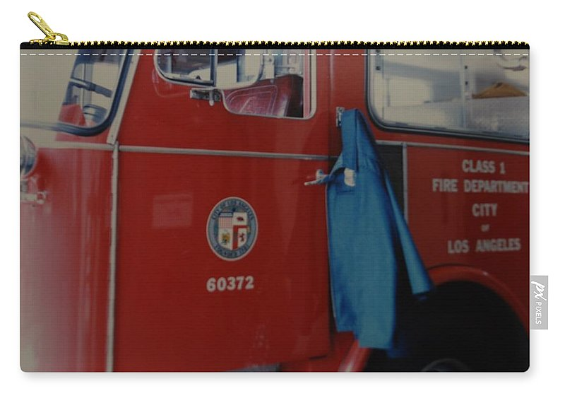 Los Angeles Fire Department Carry-all Pouch featuring the photograph Los Angeles Fire Department by Rob Hans