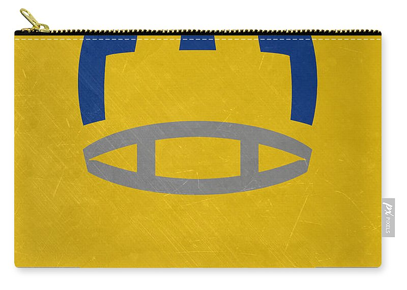 Rams Carry-all Pouch featuring the mixed media Los Angeles Rams Vintage Art by Joe Hamilton