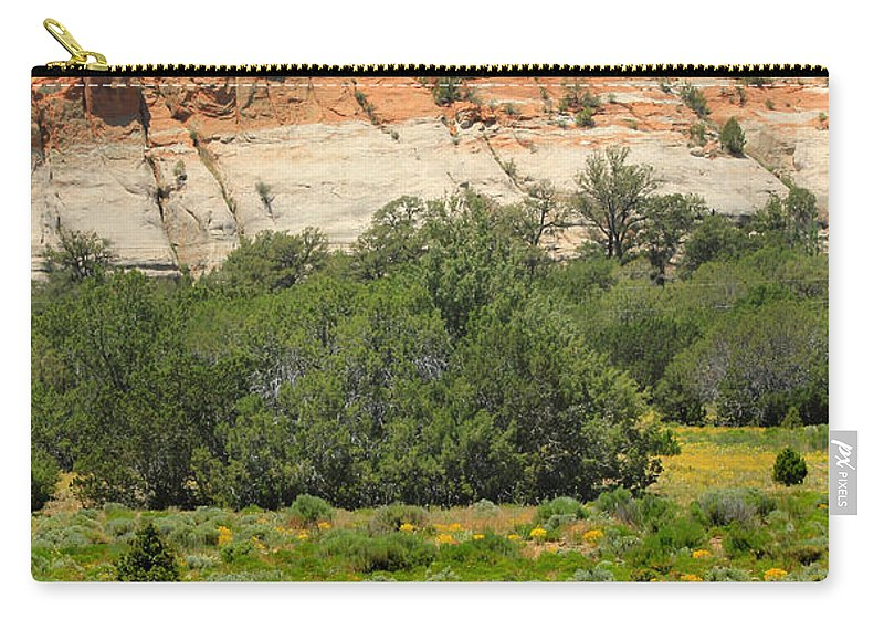 Flowers Carry-all Pouch featuring the photograph D14492-los Gigantes by Ed Cooper Photography