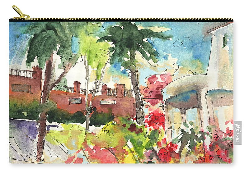 Travel Carry-all Pouch featuring the painting Los Gigantes In Tenerife 03 by Miki De Goodaboom