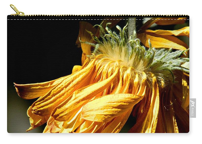Flower Carry-all Pouch featuring the photograph Losing Its Luster by Anne McDonald