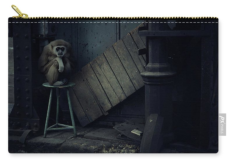 Nature Carry-all Pouch featuring the photograph Lost Animals - Series Nr.4 by Zoltan Toth