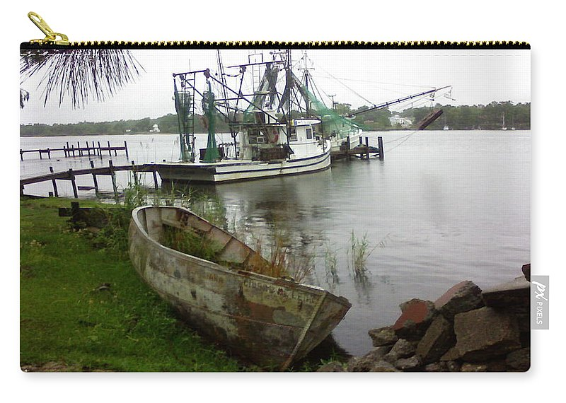 Boat Carry-all Pouch featuring the photograph Lost Boat by Patricia Caldwell