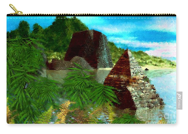 Digital Fantasy Painting Carry-all Pouch featuring the digital art Lost City by David Lane