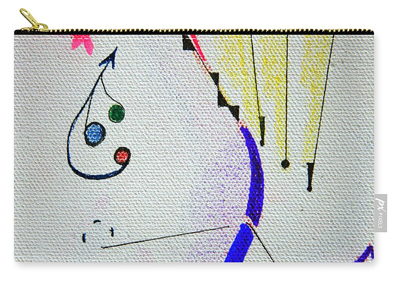 Abstract Carry-all Pouch featuring the mixed media Lost Directions by J R Seymour