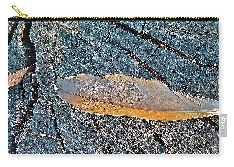 Bird Carry-all Pouch featuring the photograph Lost Feather by Diana Hatcher