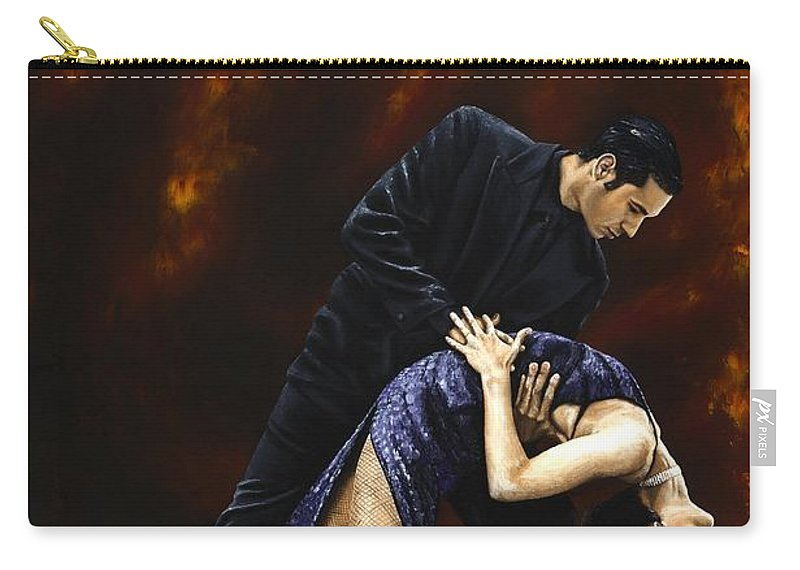 Tango Carry-all Pouch featuring the painting Lost In Tango by Richard Young
