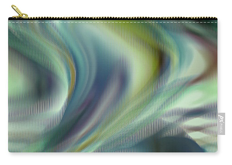 Abstract Carry-all Pouch featuring the digital art Lost In The Moment by Ruth Palmer