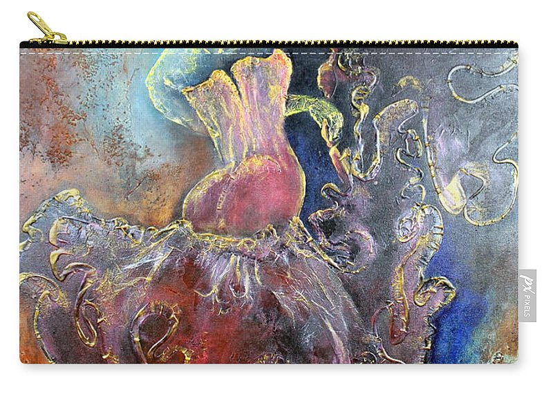 Texture Carry-all Pouch featuring the painting Lost In The Motion by Farzali Babekhan
