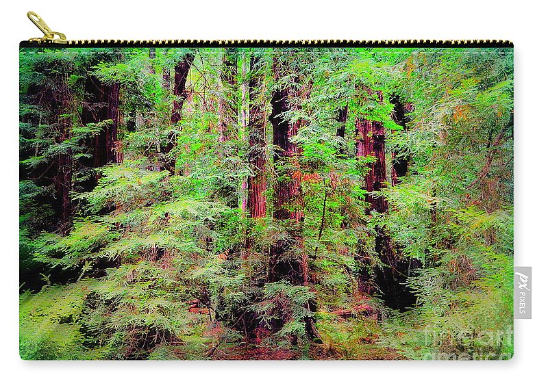 Forest Carry-all Pouch featuring the photograph Lost In The Forest by Regina Strehl