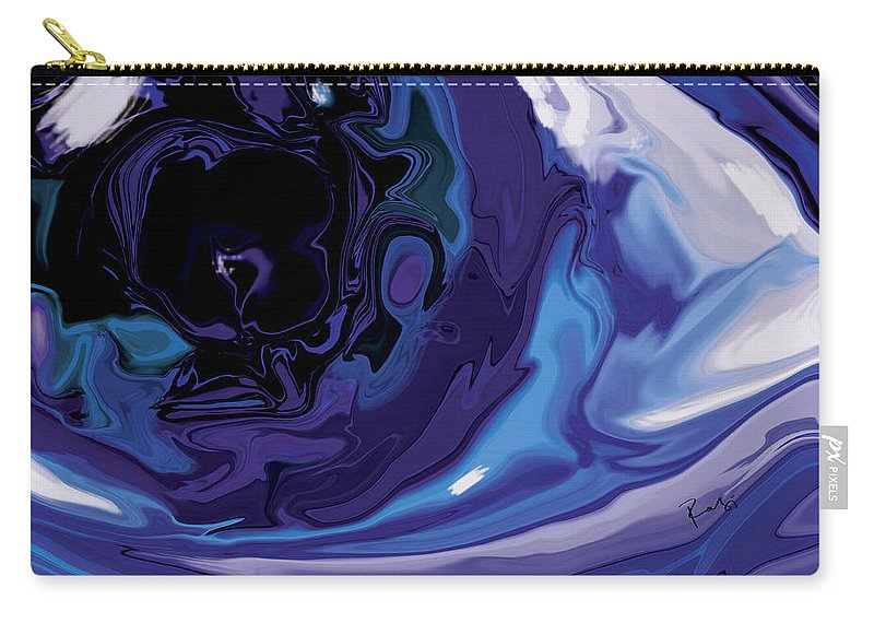 Blue Carry-all Pouch featuring the digital art Lost-in-to-the-eye by Rabi Khan