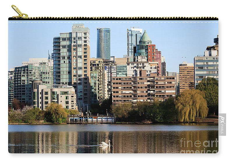 Lost Lagoon Carry-all Pouch featuring the photograph Lost Lagoon Vancouver by Marc Stuelken