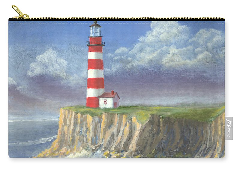 Light Carry-all Pouch featuring the painting Lost Point Light by Jerry McElroy