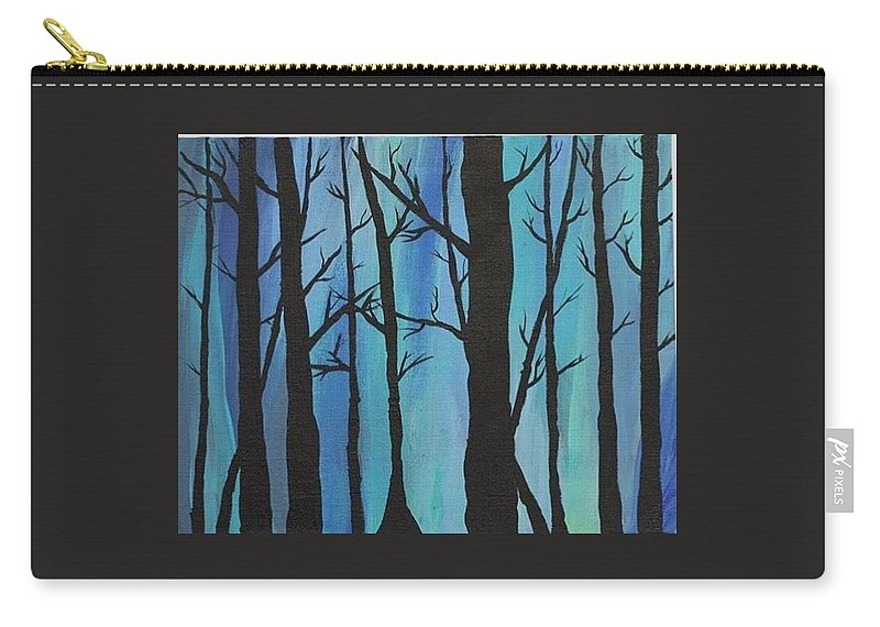 Trees Carry-all Pouch featuring the painting Lost by Ruby Palmer