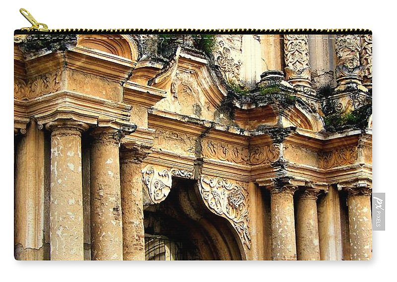 Architecture Carry-all Pouch featuring the photograph Lost Treasures by Karen Wiles