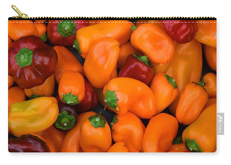 Lots Of Peppers Carry-all Pouch featuring the photograph Lots Of Peppers by Frank Wilson