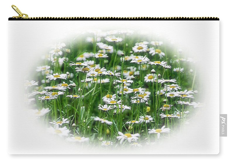 Daisy Carry-all Pouch featuring the photograph Lotsa Daisies by Kristin Elmquist
