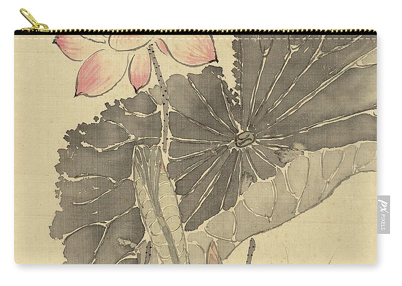 Lotus Carry-all Pouch featuring the painting Lotus by Yang Jin