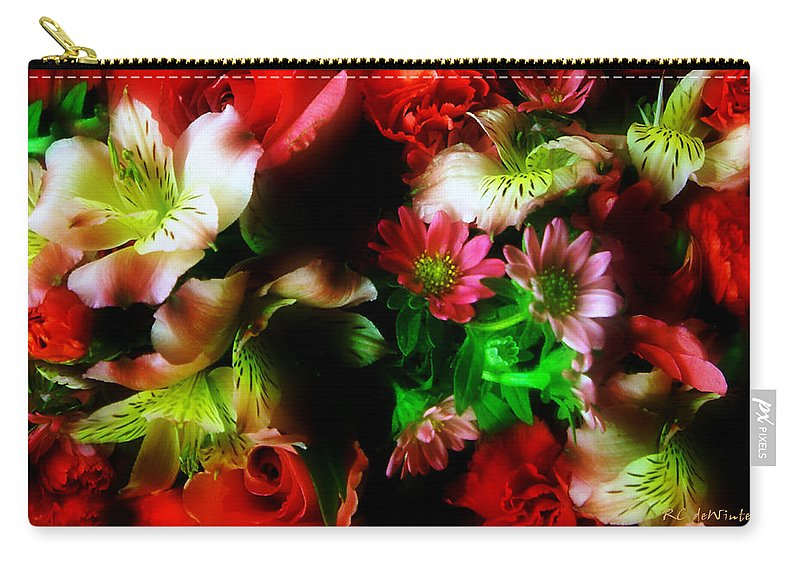 African Daisies Carry-all Pouch featuring the photograph Loud And Proud by RC DeWinter